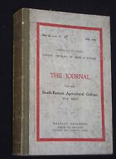 Journal of the S E Agricultural College-Wye, Kent-1905-6 Farming Reference