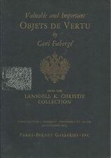 RARE - PB Russian Faberge Vertu Lansdell Christie Coll Auction catalog 1967
