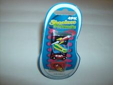 Colorful Four Pack Shoe Lace Friends With Rocket Skateboard Car And Surfboard