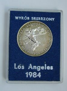 OLYMPIC 1984 LOS ANGELES POLISH POLAND MEDAL
