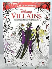 NEW Disney VILLAINS ADULT ART OF COLORING BOOK  Maleficent Ursula Cruella Gaston