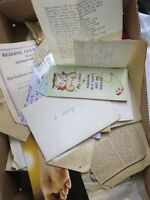 Large Lot of Family Birthday Cards Letters Paper Ephemera BB