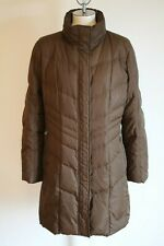 Womens Bogner Fire Ice Long Down Jacket Brown Size EU 42 US 12