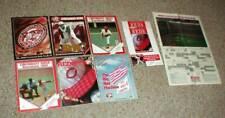 Lot-11 Cincinnati REDS Souvenirs Yearbook-Scorecards-Stadium Game Programs MORE