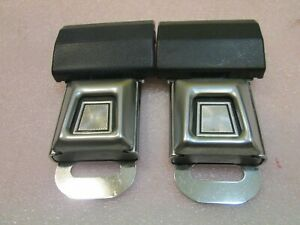 LOT OF 2 FORD Logo Metal Seat Belt Buckle Push Button With Latch  **BLUE**