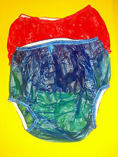 """SMALL CLOTH """"A-I-O"""" SNAP-ON BEDWETTER DIAPER PANTS + 2 PR  PULL-ON PLASTIC PANTS"""