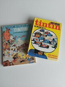 2 Albums Tintin : reliure journal de Tintin n°9 +  Tintin 40 ans de BD