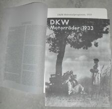 DKW 1933 PROSPEKT KM175 LUXUS 200 TM SS600 SPORT 500 OLDTIMER MOTORRAD VORKRIEG