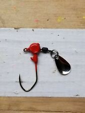 1/16 oz Red jig heads w/ spinner 20ct w/#2 bronze Eagle Claw Lil' Nasty hook