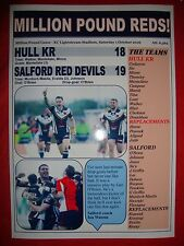 Hull KR 18 Salford Red Devils 19 - 2016 milione di sterline GAME-Souvenir STAMPA