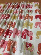 Clarke&Clarke Elephant F0794/02 Curtains Made To Measure Hand Sewn 3 Cols