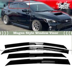 FITS 2015-2020 SUBARU WRX STI SEDAN JDM 3D MUGEN STYLE WINDOW VISOR RAIN GUARD