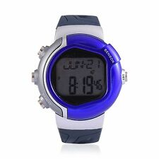 GENOA MIYOTA HEARTBEAT SENSOR JAPAN MOVEMENT SPORTS WATER RESIST WATCH IN BLUE