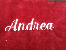 """Pottery Barn Red Channel Quilted Christmas Stocking """"ANDREA""""  New!"""