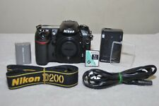 Nikon D200 10.2 Mp Digital Slr Camera (Black) Body and Accessories!
