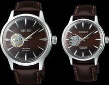 Seiko Presage Midnight Sting Open Heart Couple's Watch Set