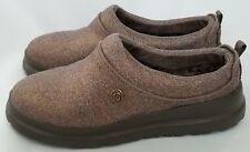 Bobs Skechers Womens Plush Foam Slippers Clogs Size 5 Metallic Bronze