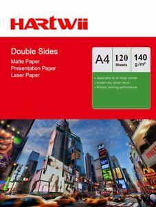 A4 Matte Matt Double Sided Photo Paper Inkjet Laser Print 140Gsm  - 120 Sheets