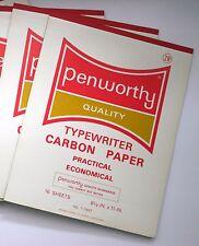 Vintage PENWORTHY Quality Typewriter Carbon Paper 16 Sheets Blue