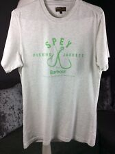 MENS BARBOUR BEACON BRAND SPEY FISHING JACKETS S/S GREY & GREEN T SHIRT Sz Sma