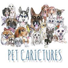 Custom Pet Caricature Portrait