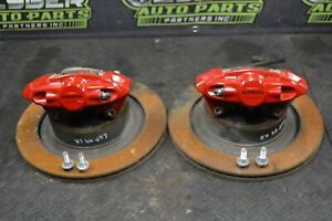 2015 NISSAN 370Z NISMO AKEBONO REAR CALIPER ROTOR LINE HARWARE PAIR RED 09-20
