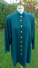 Lucia bottle green knitted wool blend jacket size 12                (LB35)