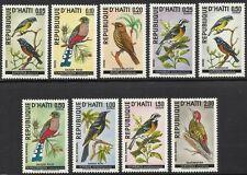 Birds of Haiti #611 - 615,  C326 - C329 Mint NH 1969 Cplt Set $28.50 Scott Value