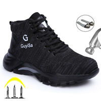 Sneakers Mens Indestructible Safety Work Shoes Steel Toe cap Boots Lightweight