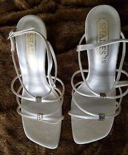 BNWB Wedding Ivory satin strappy sandals size 4