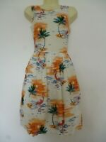 NEW PRIMARK FLAMINGO PRINT MINI SLEEVELESS SUMMER COTTON DRESS
