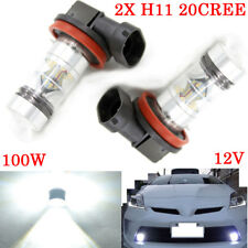 2X H8 H9 H11 Cree LED 6000K 100W 20SMD Bright Headlight Bulbs Fog White 12V Car