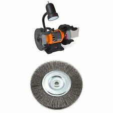 Heavy-Duty Bench Grinder 6-Inch with Wire Bench Wheel Brush Set
