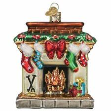 Holiday Hearth Fireplace Stockings Old World Christmas Glass Ornament Nwt 32434