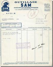 Facture - OUTILLAGE SAM Saint-Etienne 1958