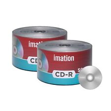 100 Pack Imation CD-R 52X 700MB/80Min Branded Logo Blank Media Recordable Disc