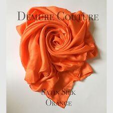 Satin Silk Elegant High Quality Scarf Hijab Pashmina Shawl Wrap Plain Sarong