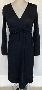 VINTAGE GOLDWORM WOMEN'S LONG SLEEVE SWEATER DRESS BLACK SIZE 10