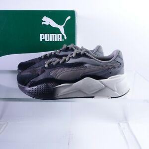 Size 8.5 Men's PUMA RS-X Move Sneakers 372429-03 Black/Castlerock/White