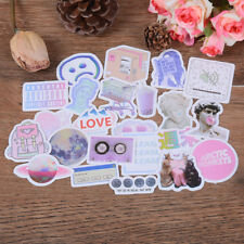 46Pcs Vaporwave Label Sticker Handmade Scrapbooking Stationery Bakery Decor WZ