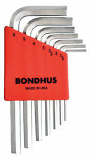 1.5 - 6mm Short Arm Hex End L-Wrenches 7pcs Set w/BriteGuard™ Bondhus USA #16292