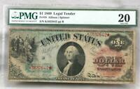 1869 Rainbow FR 18 Legal Tender STAR NOTE! PMG VF 20!