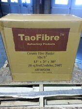 """Ceramic Fiber Blanket,Kaowool 0.5""""x24""""x300"""" 2300F 8# Density-NEW-2 rolls per box"""