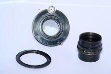 "Wollensak Verito 7 1/4"" (184mm) Soft Focus lens. Covers 5x7"". Universal shutter."