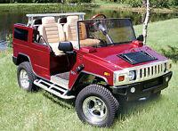 HUMMER H2-Custom Golf Cart BODY KIT fits Club Car DS or EZGO TXT