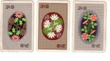 3 x Vintage P & O  Flower Advertisement   = Linen Swap Playing Cards