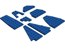 LEGO Wing Wedge Plates x8 Blue Plane Jet Space Shuttle City Airport Star Wars