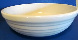 ROSEVILLE OHIO POTTERY Ribbed MIXING BOWL MICROWAVE & DISHWASHER PROOF USA MADE