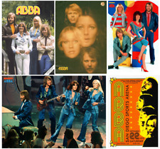 VINTAGE ABBA singer band music tour artist print/poster A4/A3