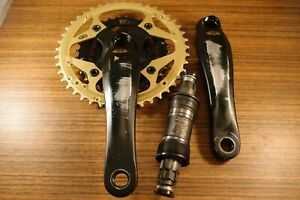 cransket Shimano Deore LX Mega Drive Train Gold Edition FC-M570 + bottom bracket